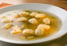 Суп с галушками с оригинальной заправкой
