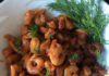 Креветки под острым соусом