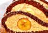 Торт с бананом и ореховой начинкой