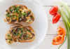Чесночные тосты с грибами