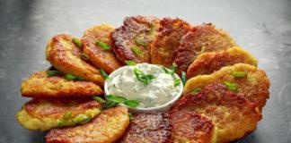 Картофельные драники с творожной начинкой