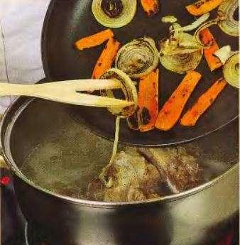 суп из баранины, зажарка