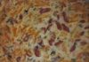 Пирог из жидкого теста с колбасой и сыром