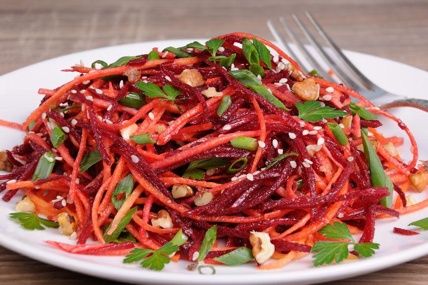 Салат из свеклы и моркови