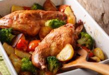 Кролик в духовке с овощами