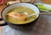 Суп-пюре гороховый с обжаренным куриным мясом