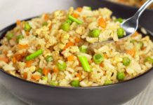 Рис с овощами по-азиатски
