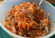 Закуска из сельди и моркови