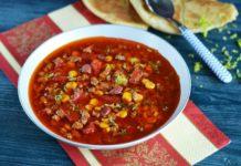 Острый мексиканский фасолевый суп