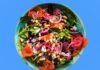 Салат с красной копченой рыбой