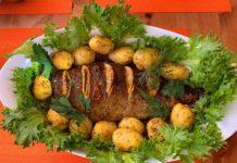 Форель с картофелем, запеченная в духовке