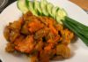 Куриные желудочки под острым овощным соусом