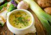Луковый суп-пюре с картофелем