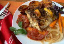 Жемчужная рыба, запечённая с картофелем