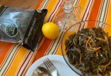 Острый салат из морской капусты