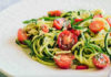 Салат с лапшой с цуккини и помидорами черри