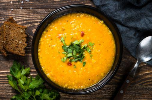 Турецкий суп с чечевицей и булгуром