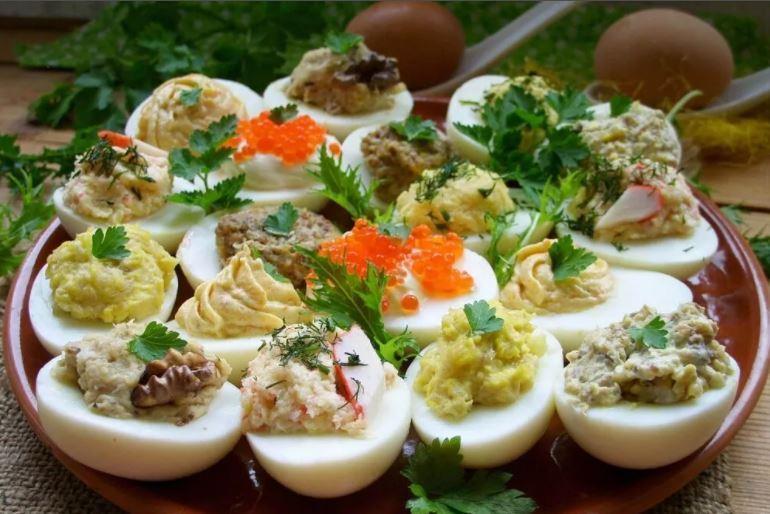 Начинки для фарширования яиц